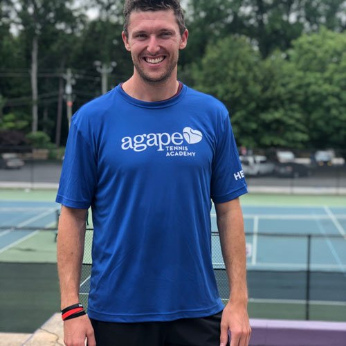 Coach Jon Benken at Agape Tennis Academy